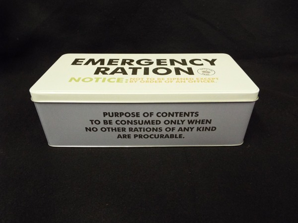 4 mergency Ration Tin at Kershaw's Garden Centre