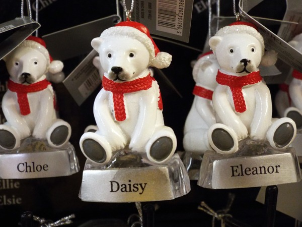38 Personalised Christmas bauble at Kershaw's Garden Centre