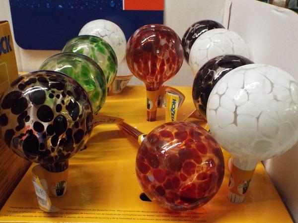 41 Aqua Deco Balls at Kershaw's Garden Centre