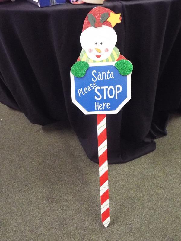 Santa Stop Here sign at Kershaw's Garden Centre